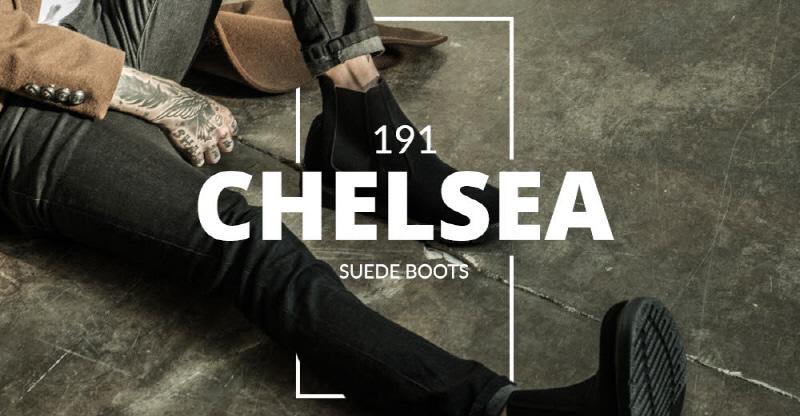 [BSQT] 191 베이직 스웨이드 첼시 부츠 매트블랙