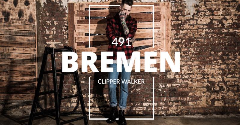 [BSQT] 491 브레멘 클리퍼 키높이 워커 매트블랙